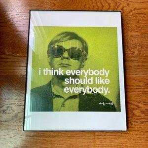 Andy Warhol everybody should like everybody poster